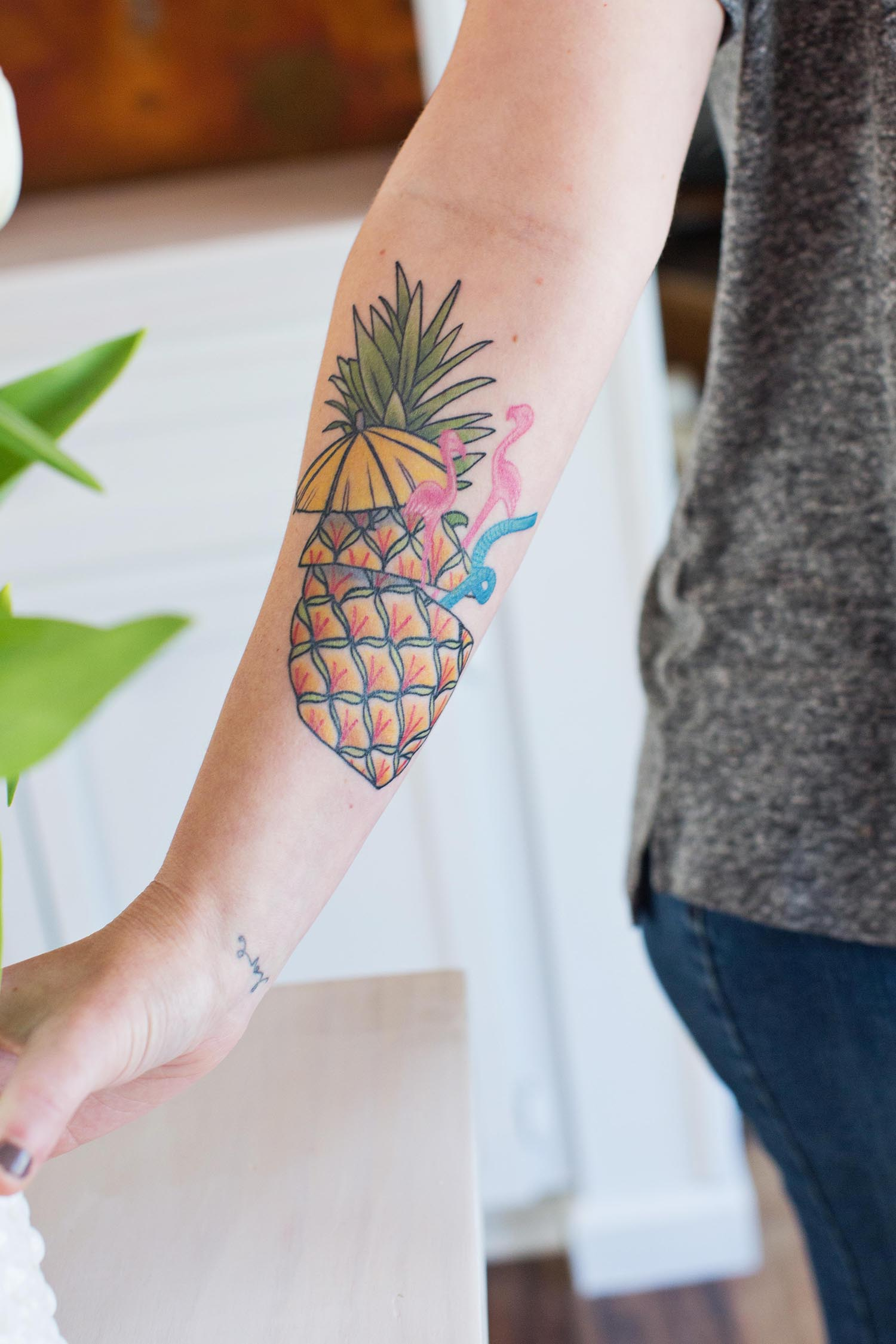 my new pineapple tattoo a beautiful mess. Black Bedroom Furniture Sets. Home Design Ideas