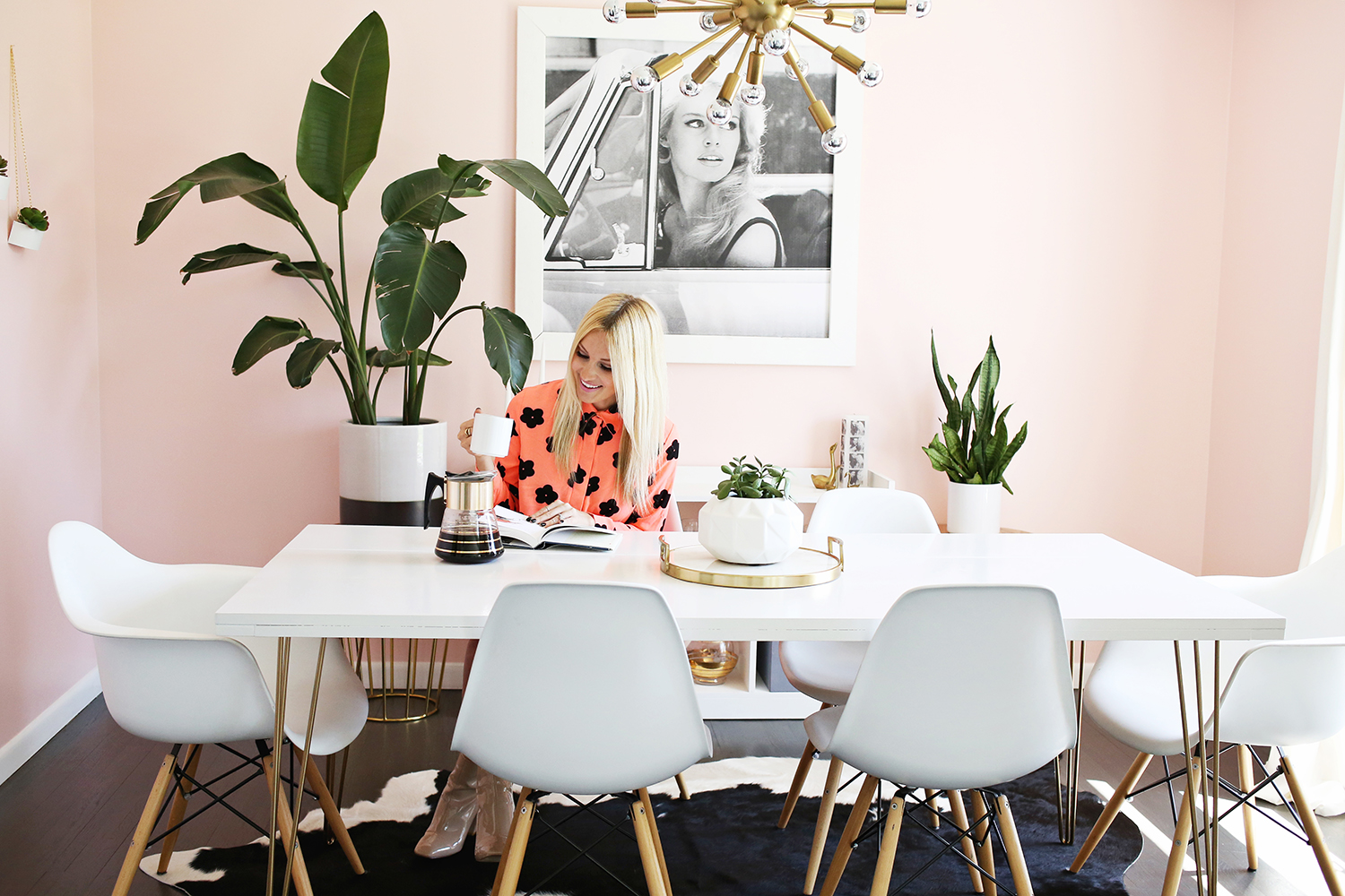 Bright + Airy Sitting:dining Room Makeover (click Through To See Before And  After ...