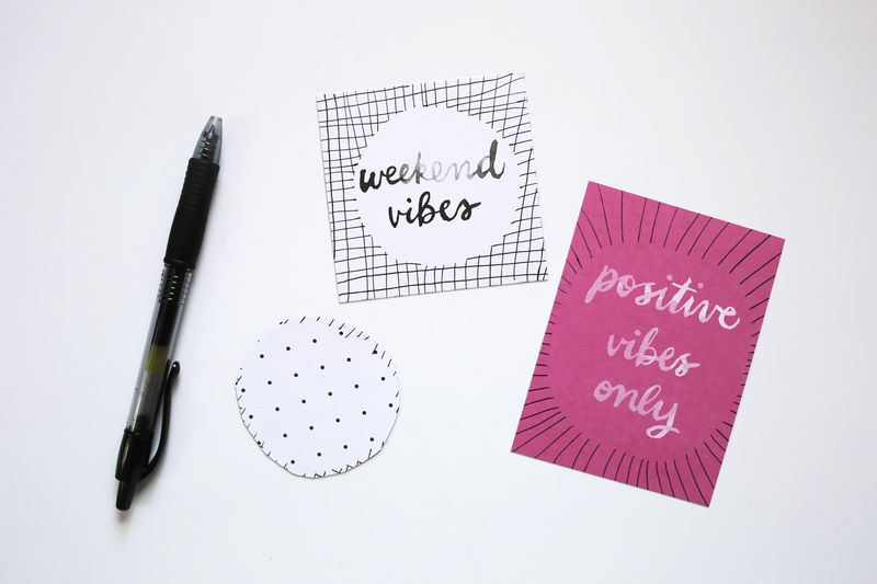 Positive Vibes Cards