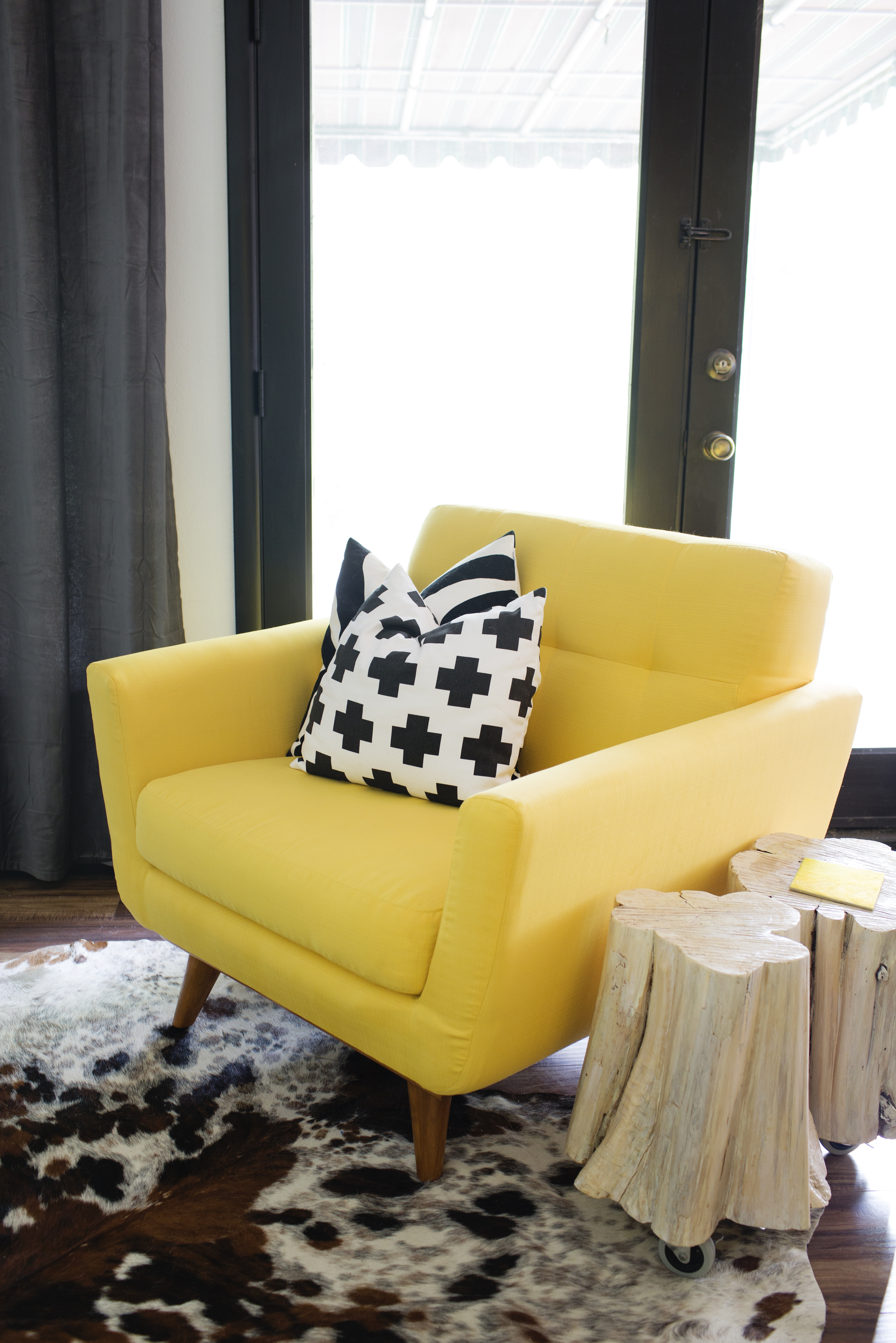 Yellow oversized chair