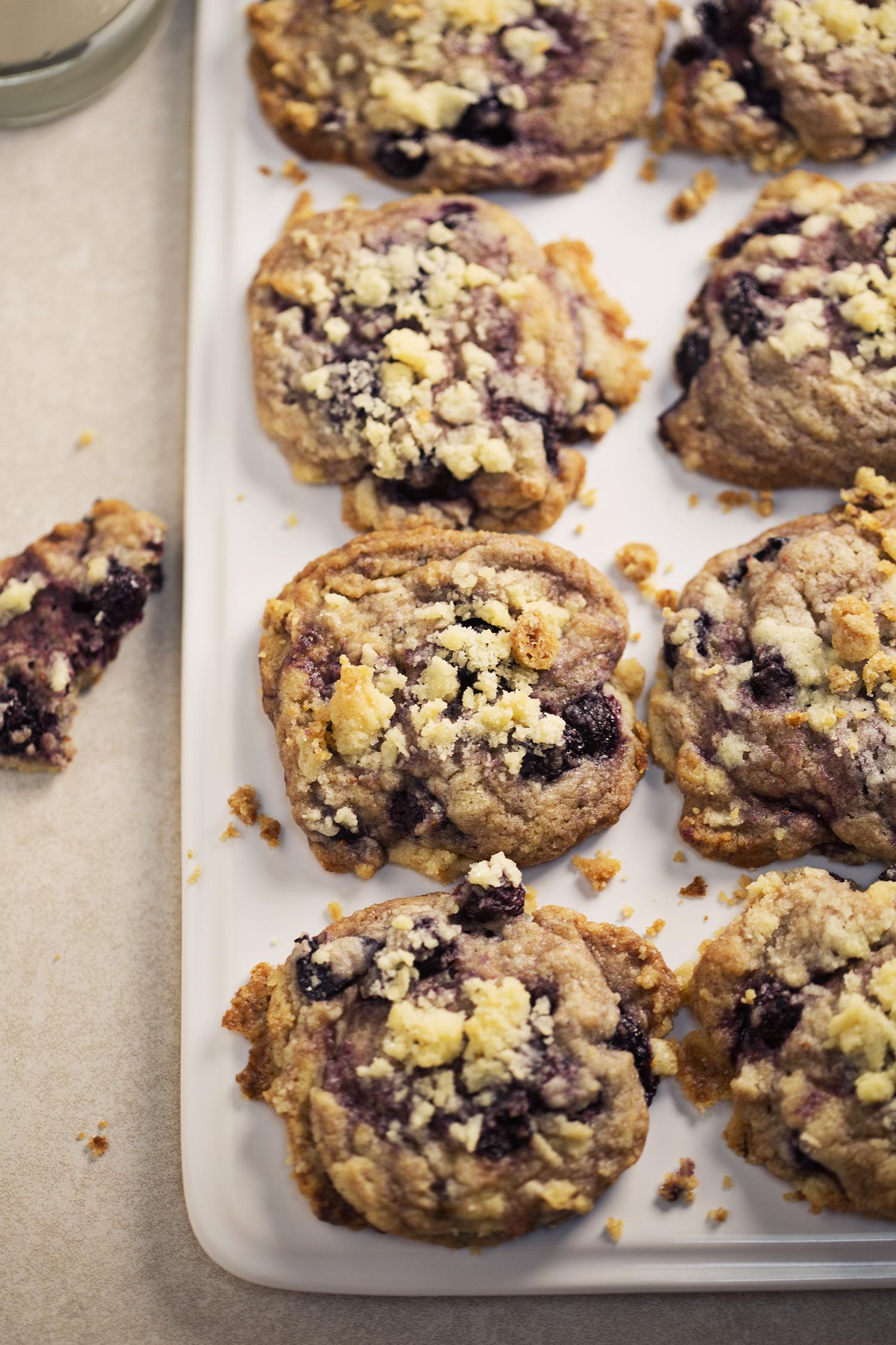 Blueberry muffin cookies (via abeautifulmess.com)