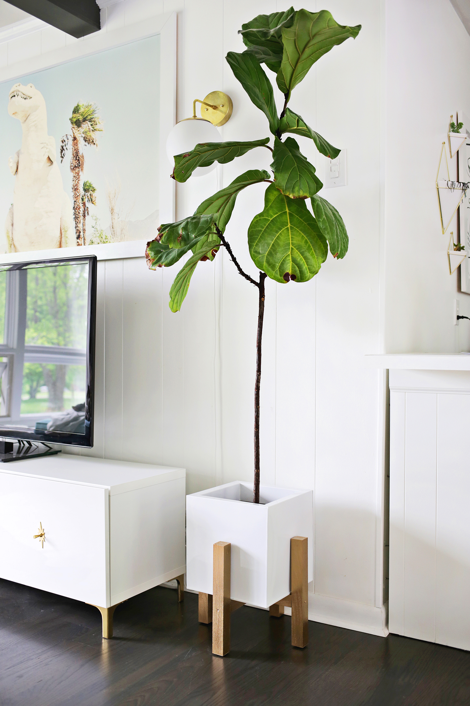Wooden Mid Century Plant Stand Diy A Beautiful Mess