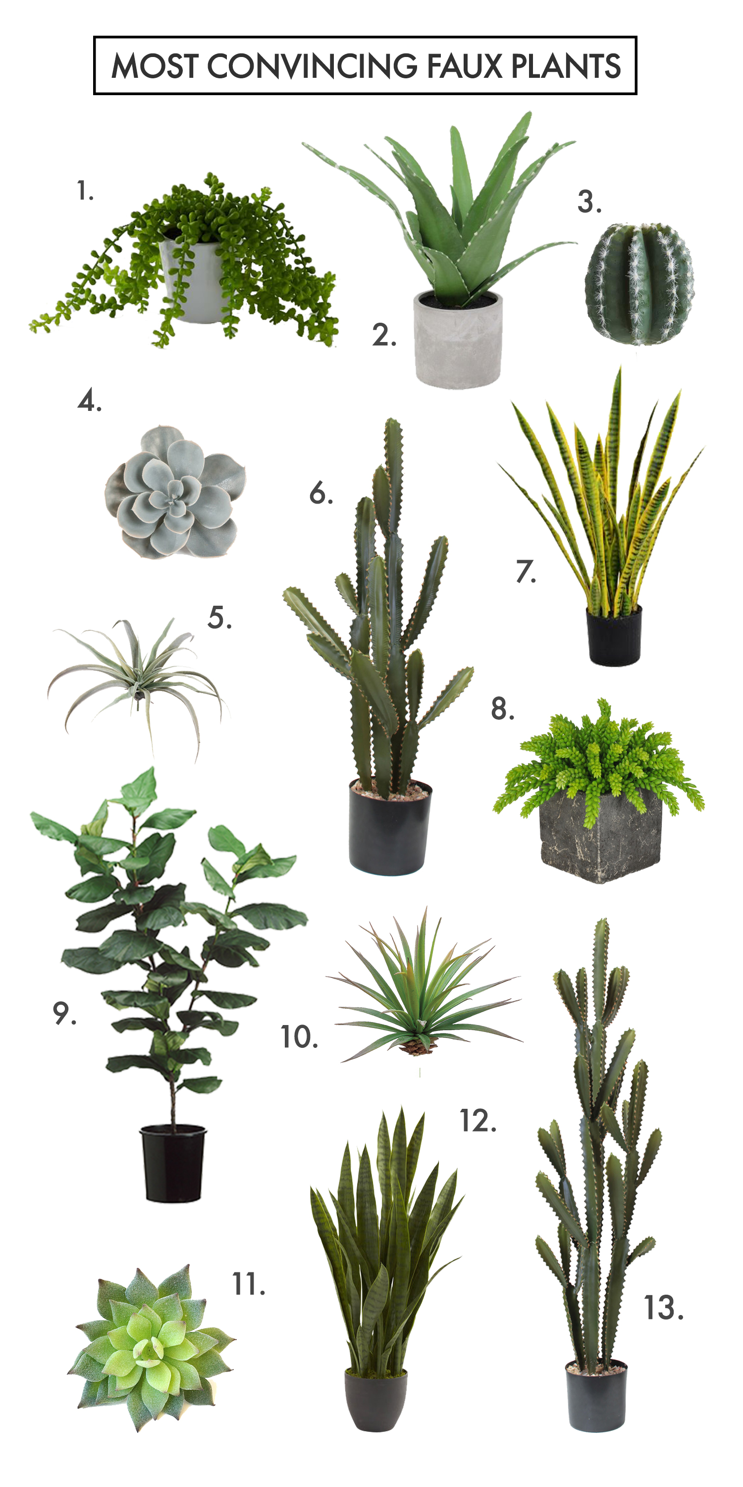 are you faux real? how to find the most convincing faux plants! - a