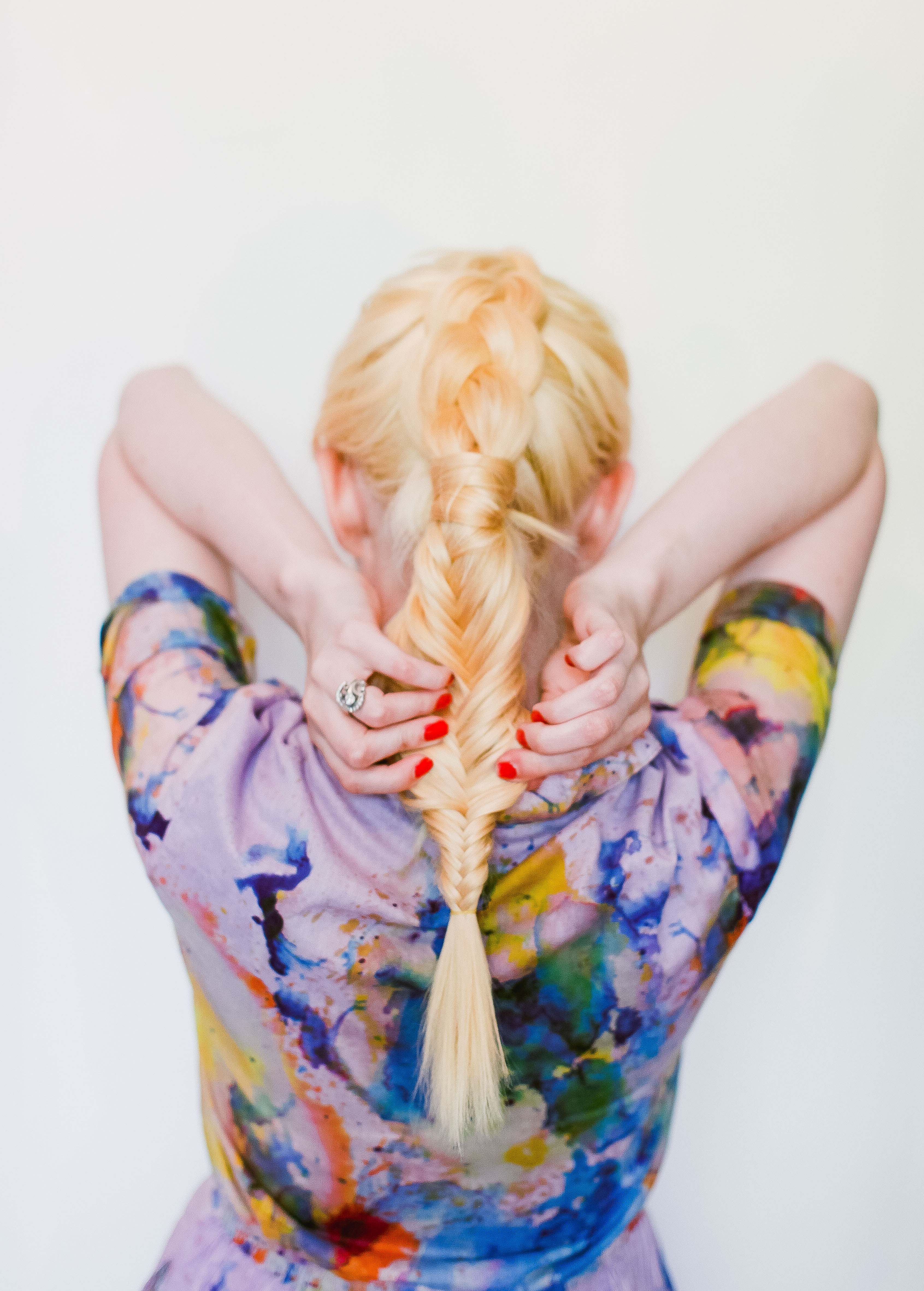 Summer mixed texture braid (click-through for the full tutorial)