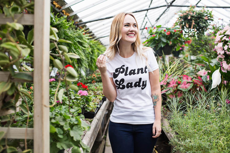Plant Lady t-shirts bw