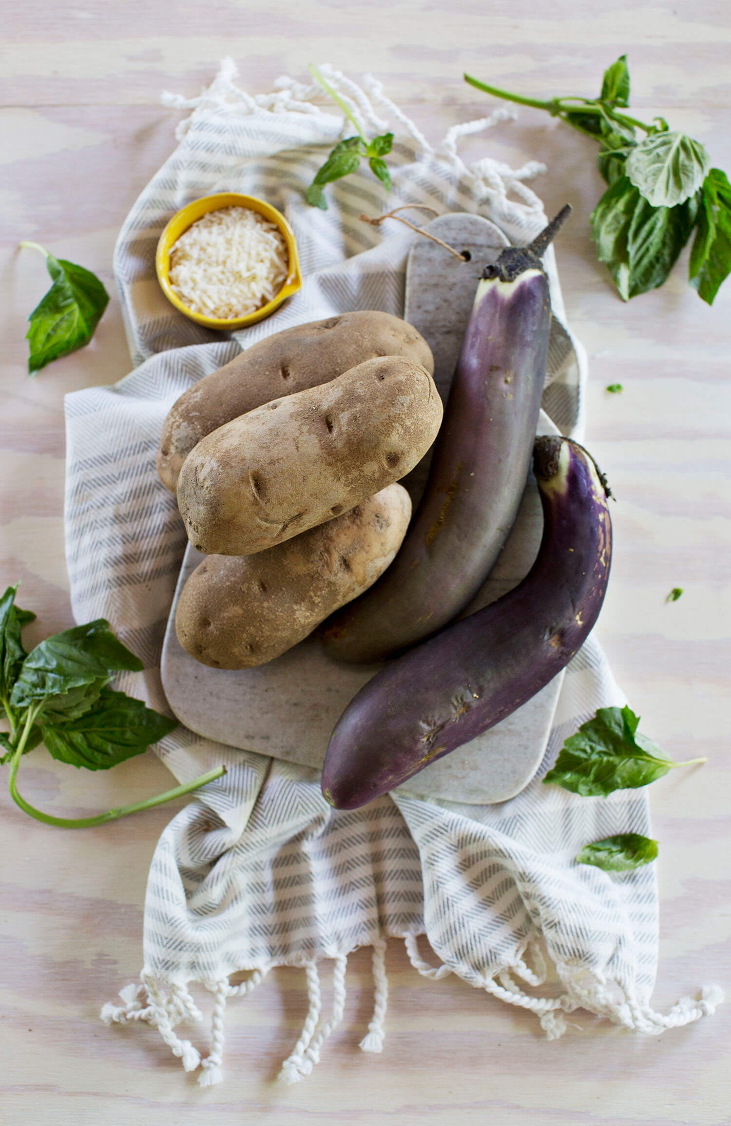 Eggplant parm ingredients