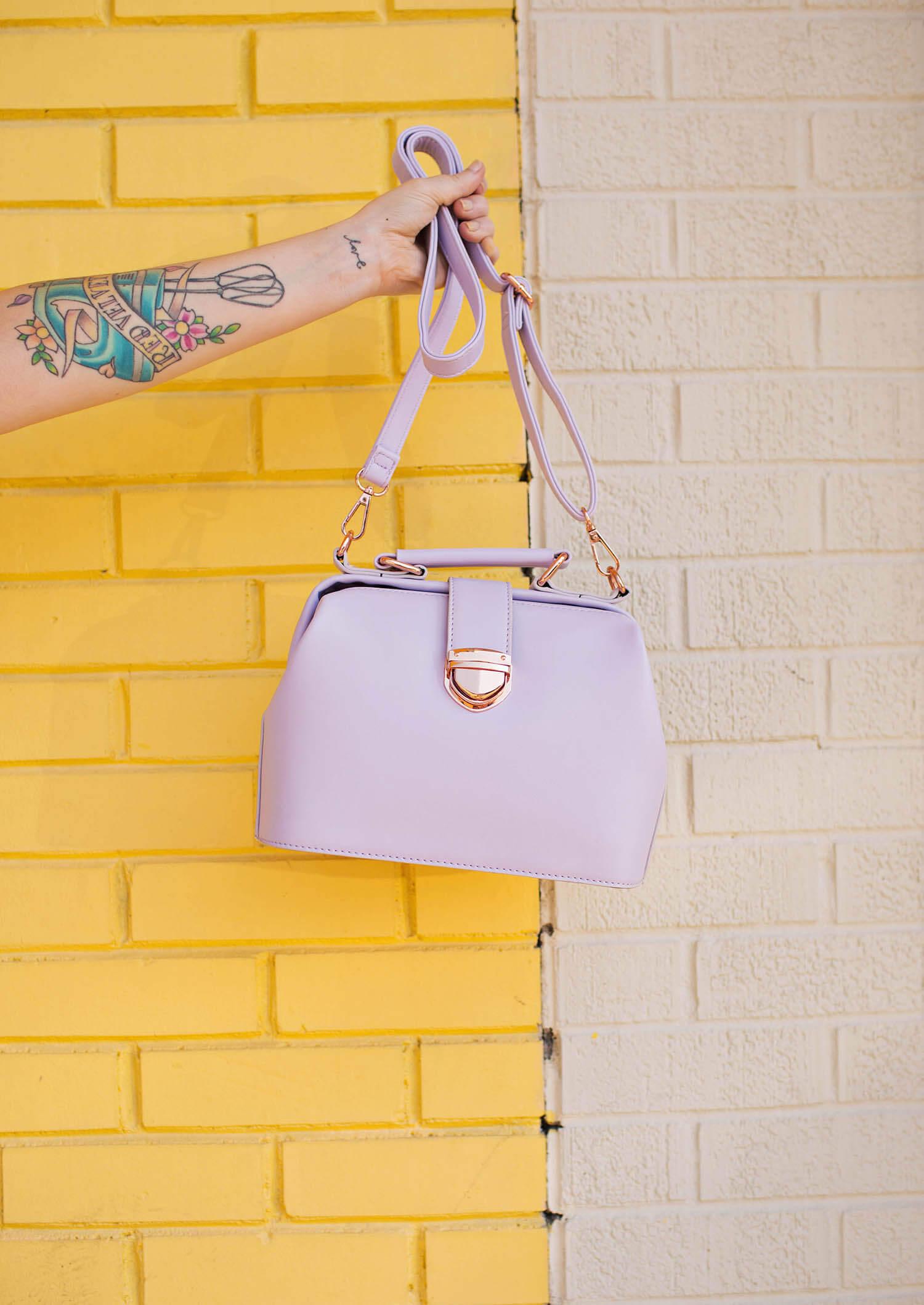 Lavender purse