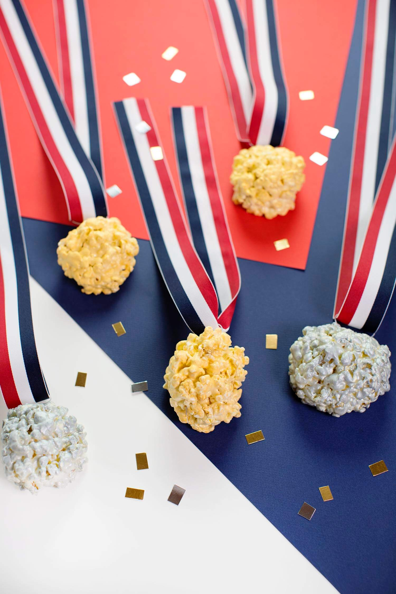 Olympic Medal Popcorn Balls (via fitness-4all.com)