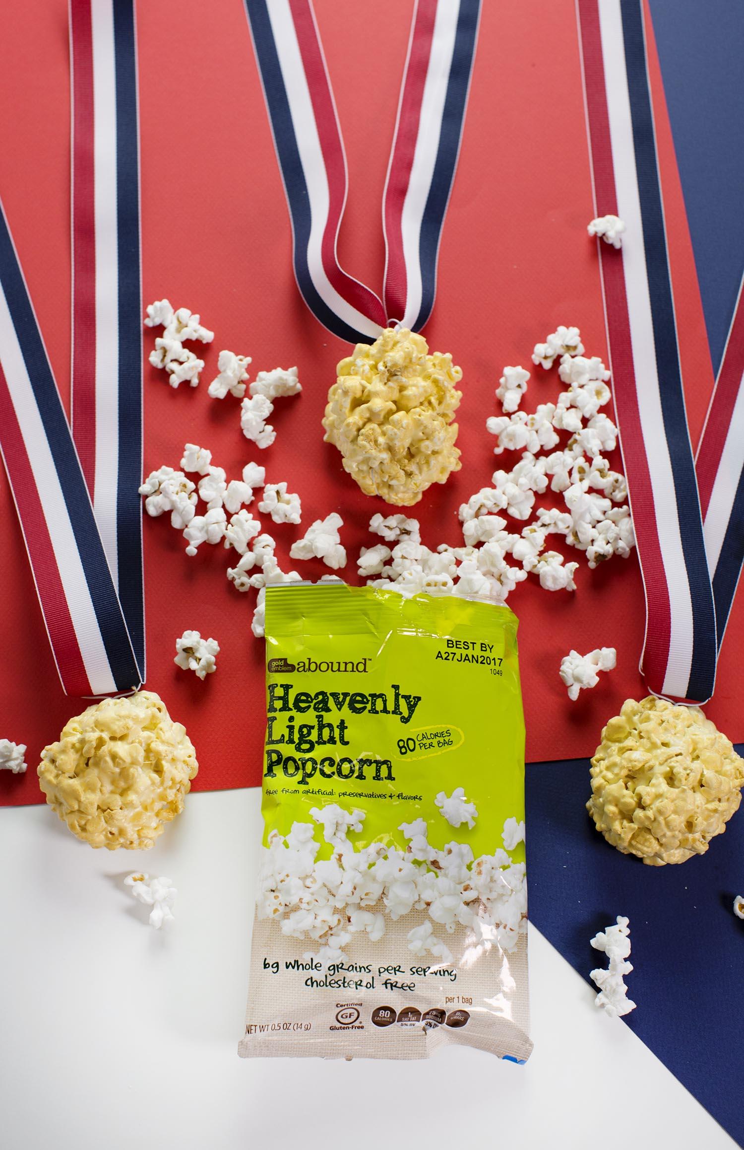 Olympic medal popcorn balls DIY