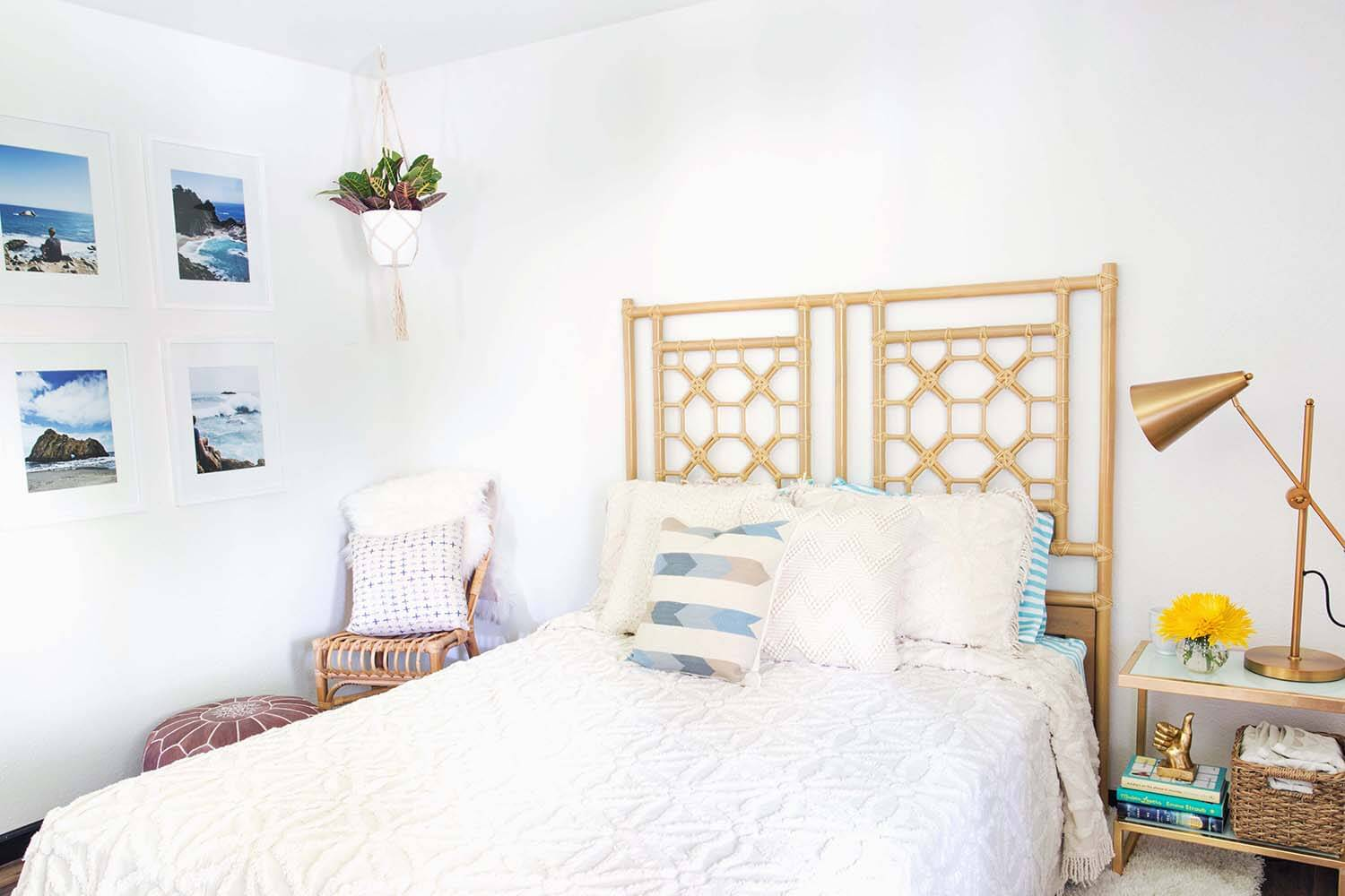 Comfy guest bedroom makeover