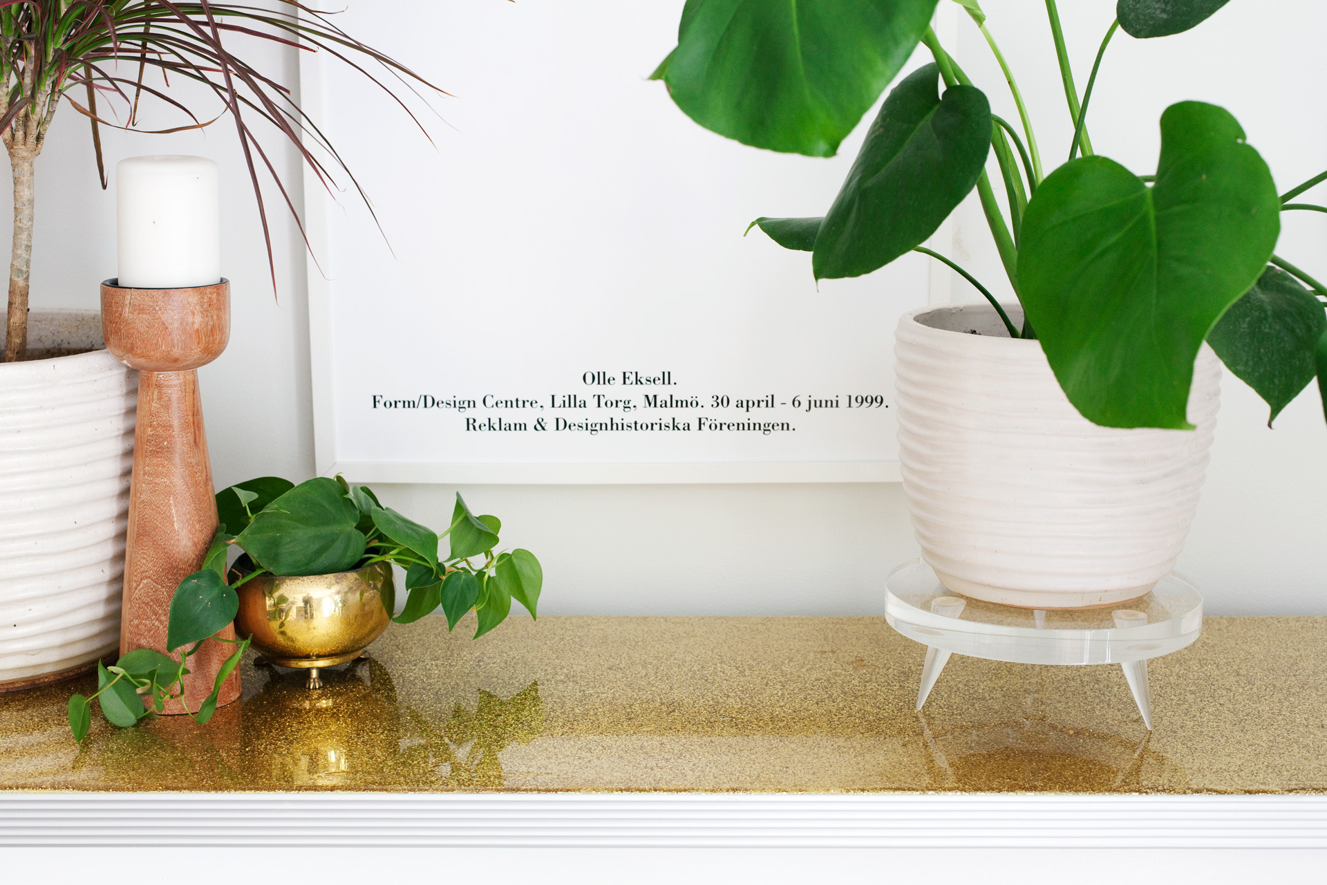 beautiful house plant stand. DIY Lucite Plant Stand with Tapered Legs  A Beautiful Mess