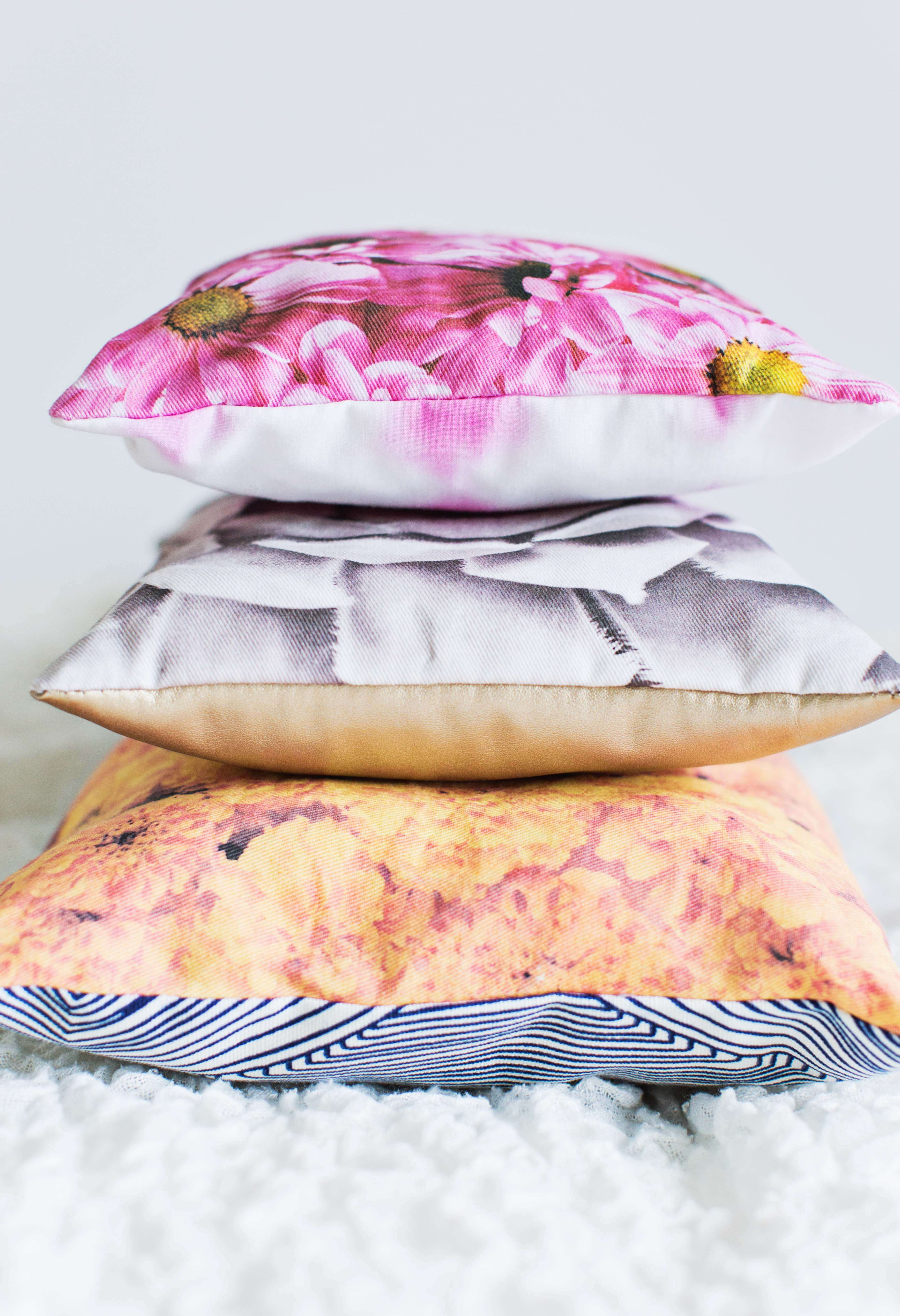 Floral pillow DIY