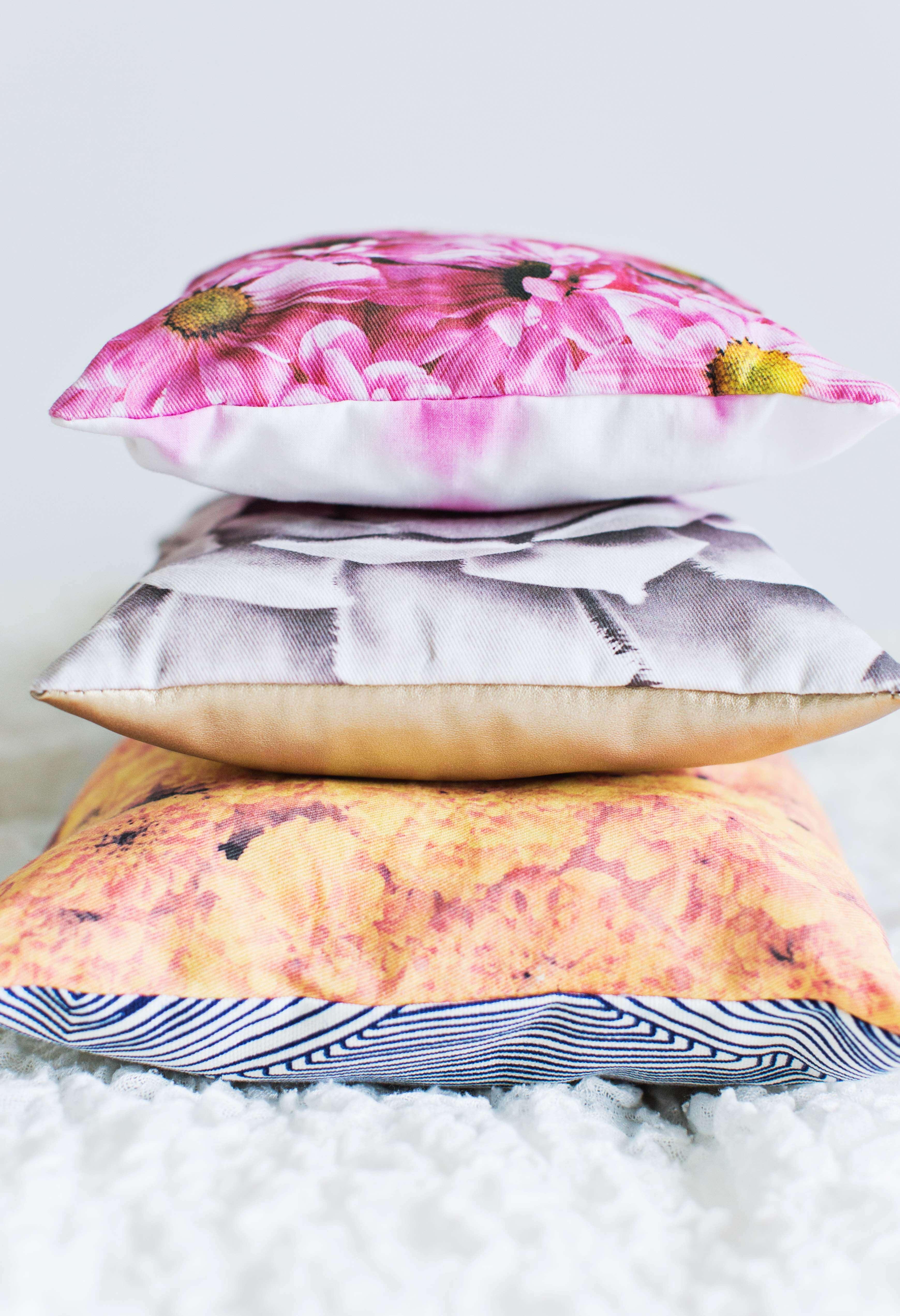 Floral pillow DIY