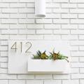 Modern House Number Planter  - September 05, 2016