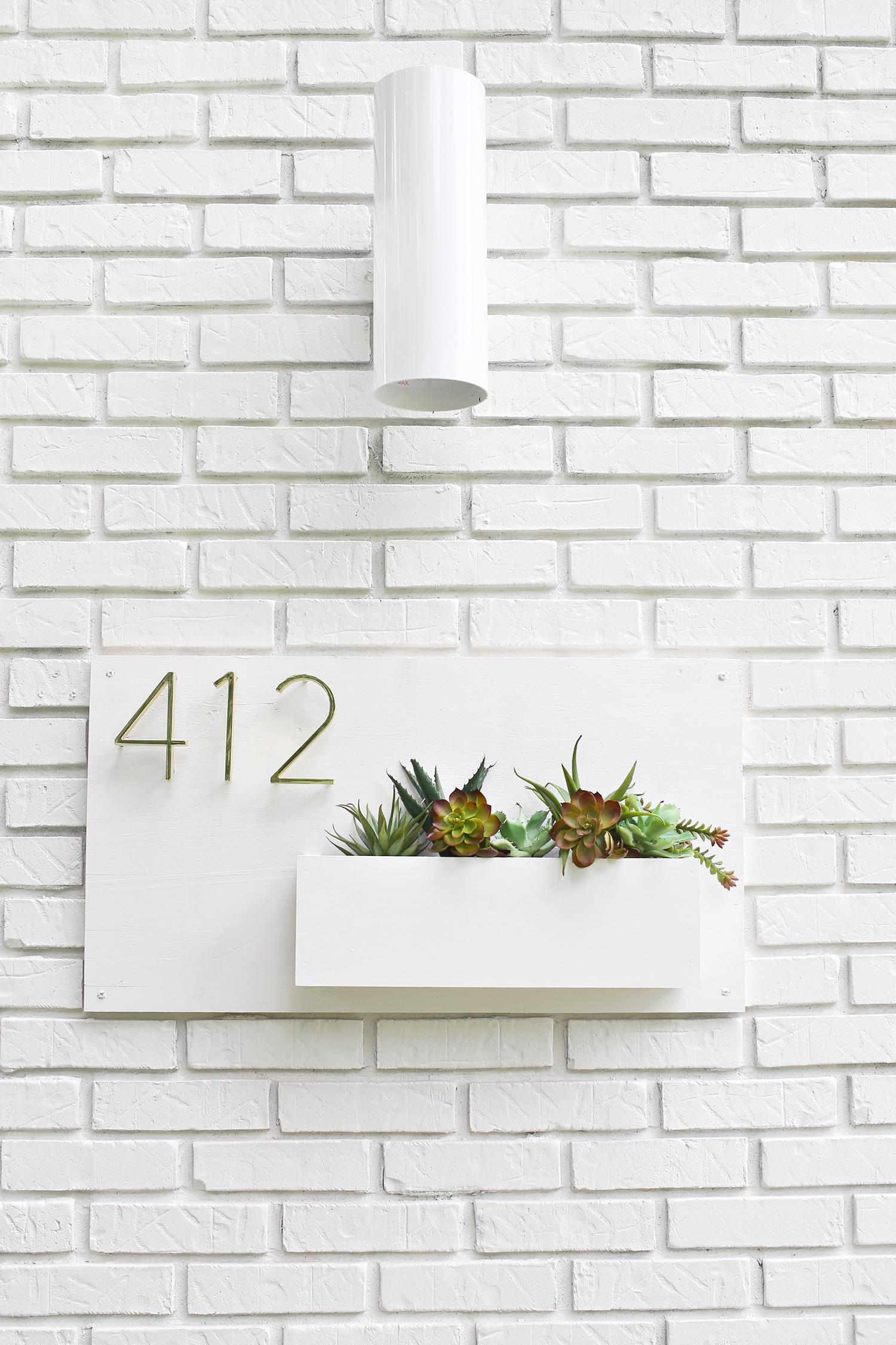 Modern House Number Planter – A Beautiful Mess