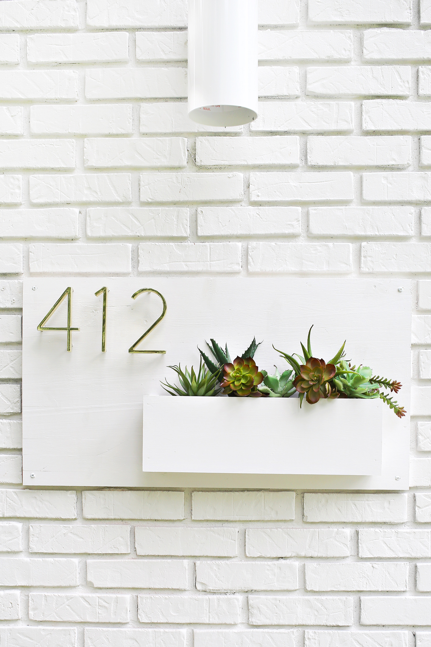 Modern House Number Planter A Beautiful Mess