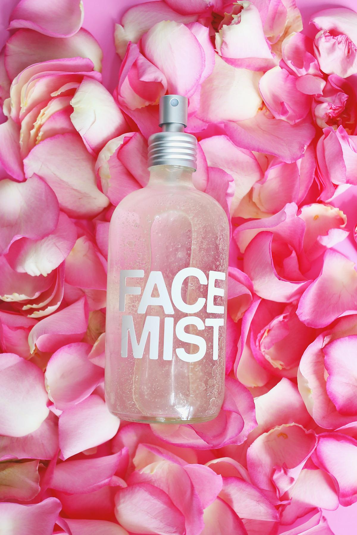 Rose water face mist DIY