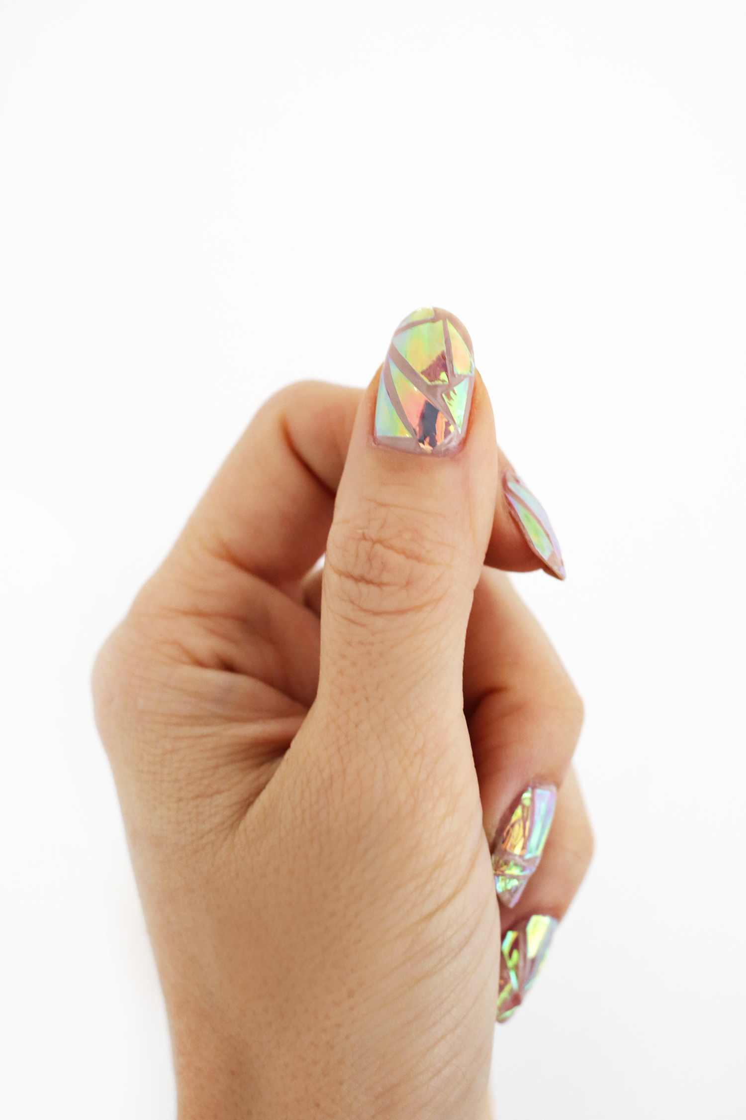 Hologram nail decal DIY