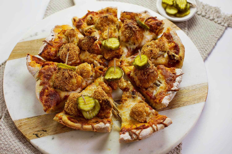 Hot Cauliflower Pizza (via abeautifulmess.com)