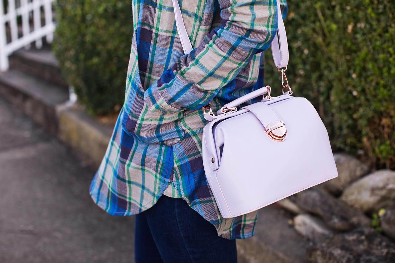 Pastel purple purse