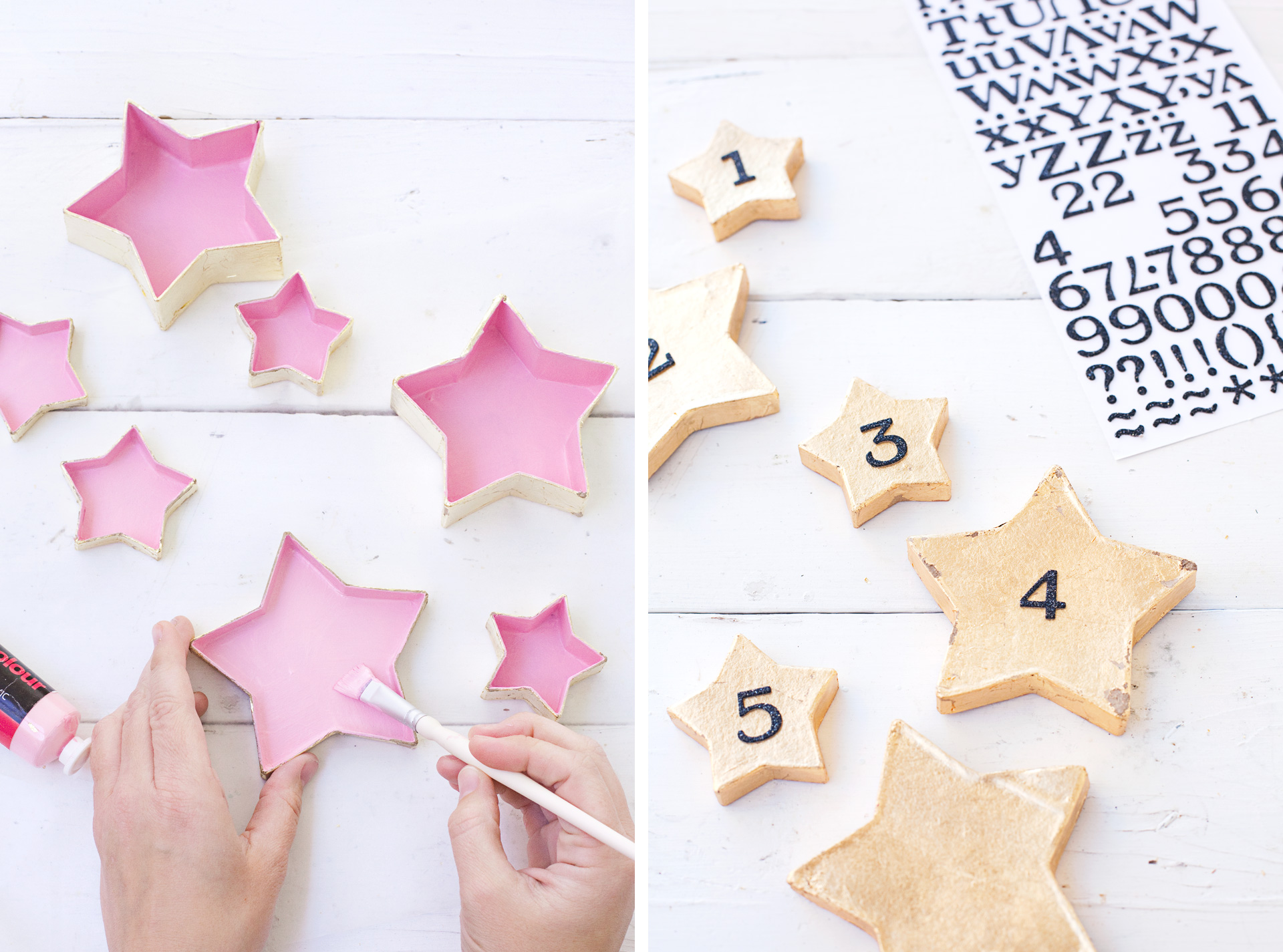 DIY Star Garland Advent Calendar