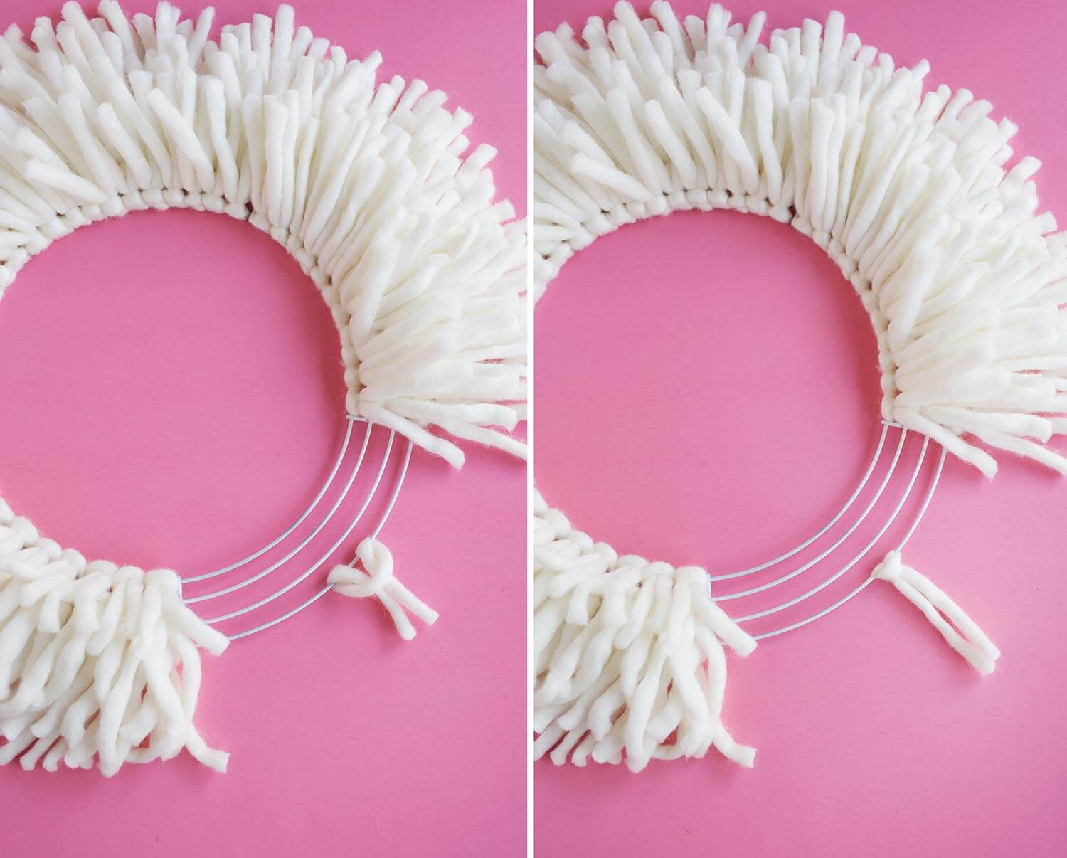 Easy yarn wreath tutorial