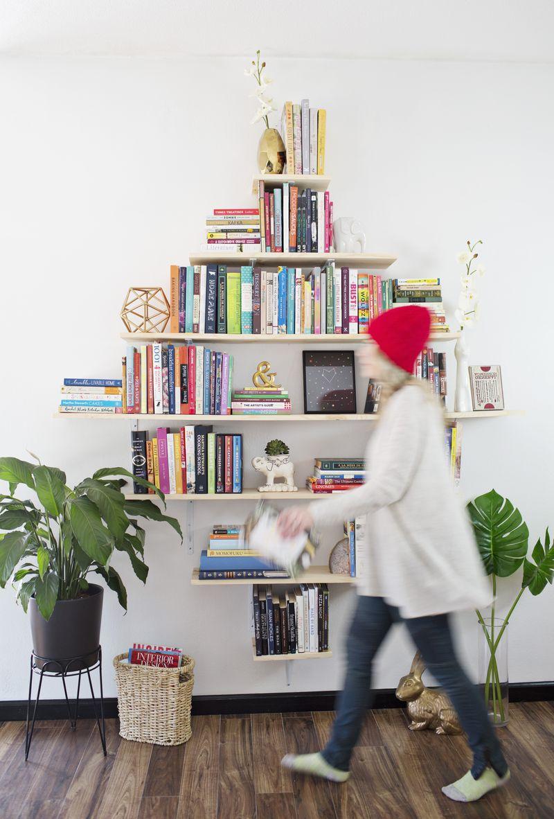 Diamond bookshelves