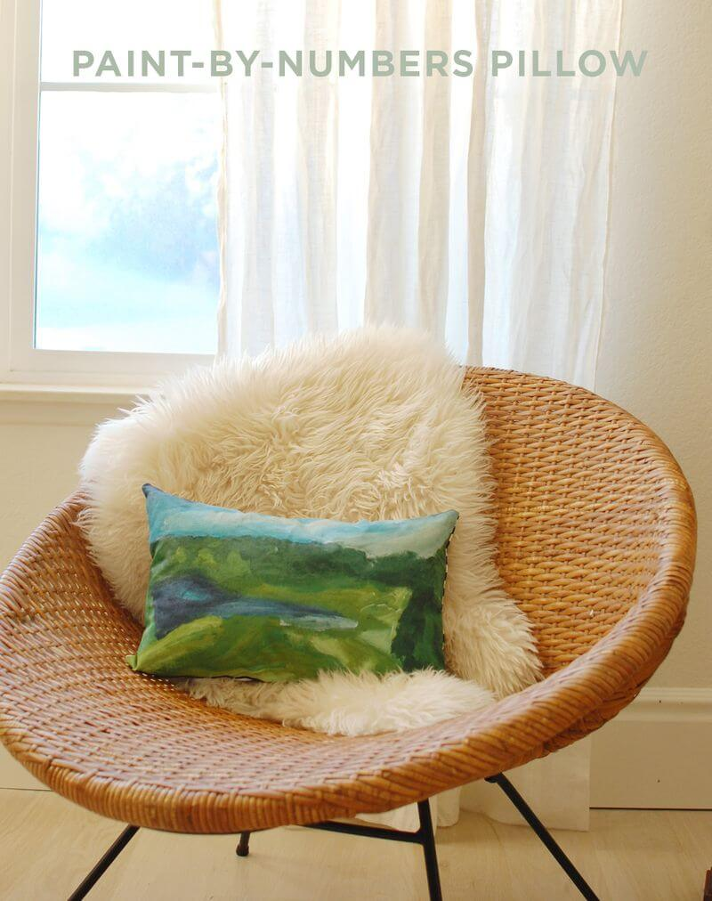 Paint By Numbers Pillow DIY