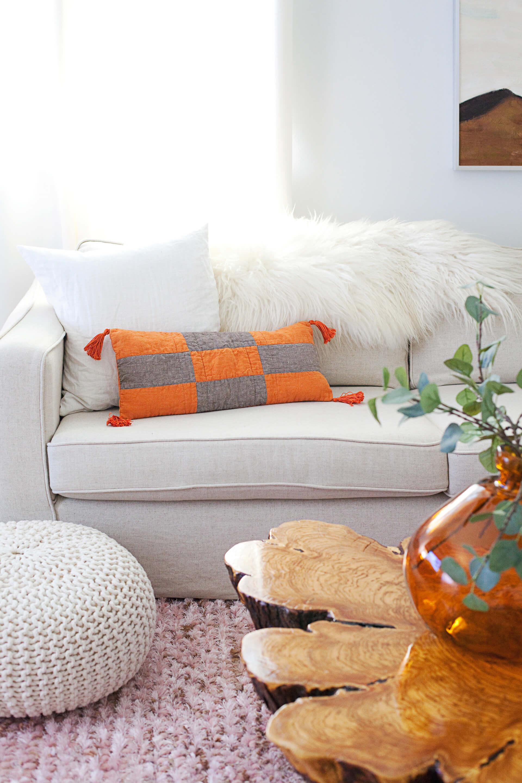 Boho Modern Patchwork Pillow