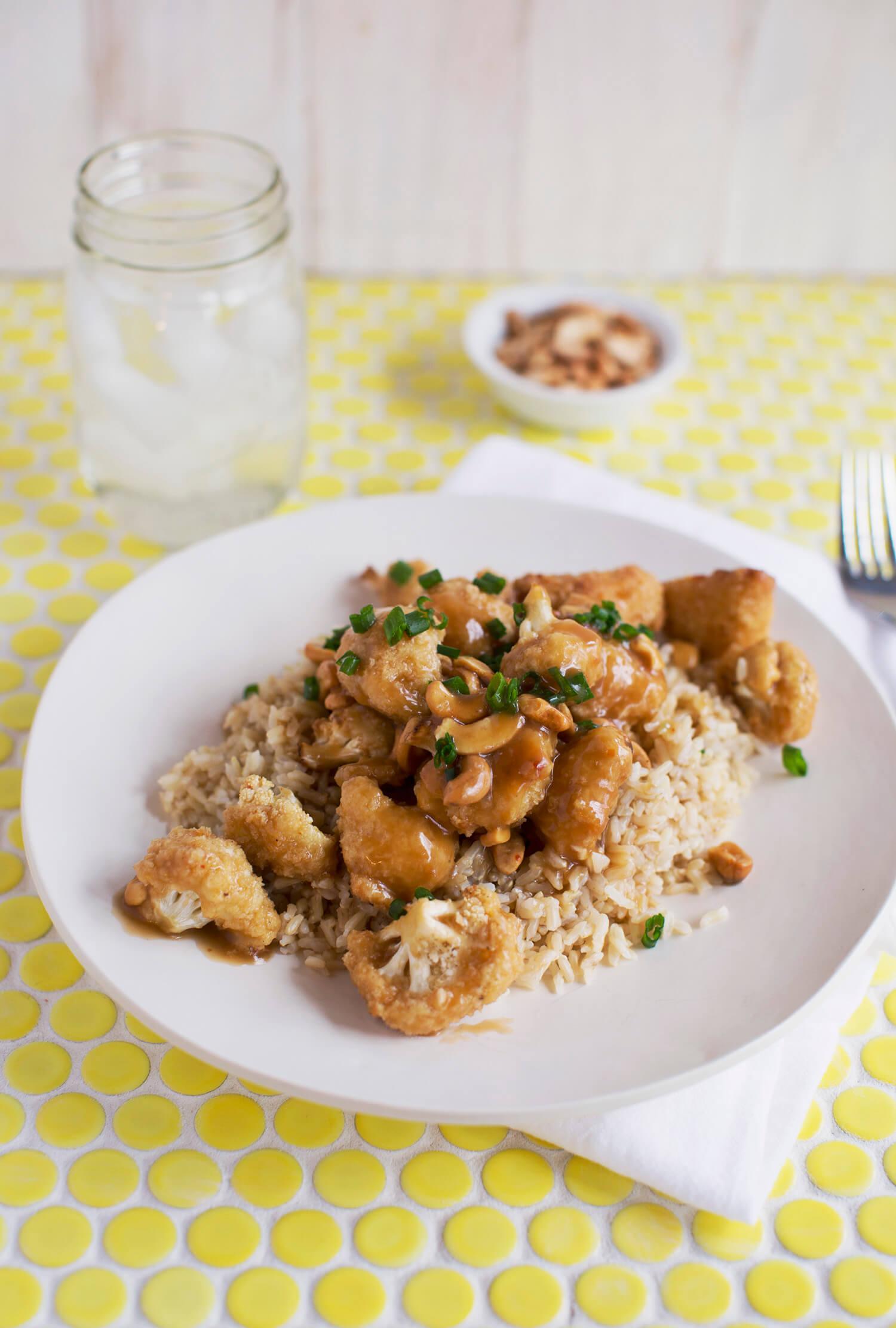 Springfield-style Cashew Cauliflower (via abeautifulmess.com)