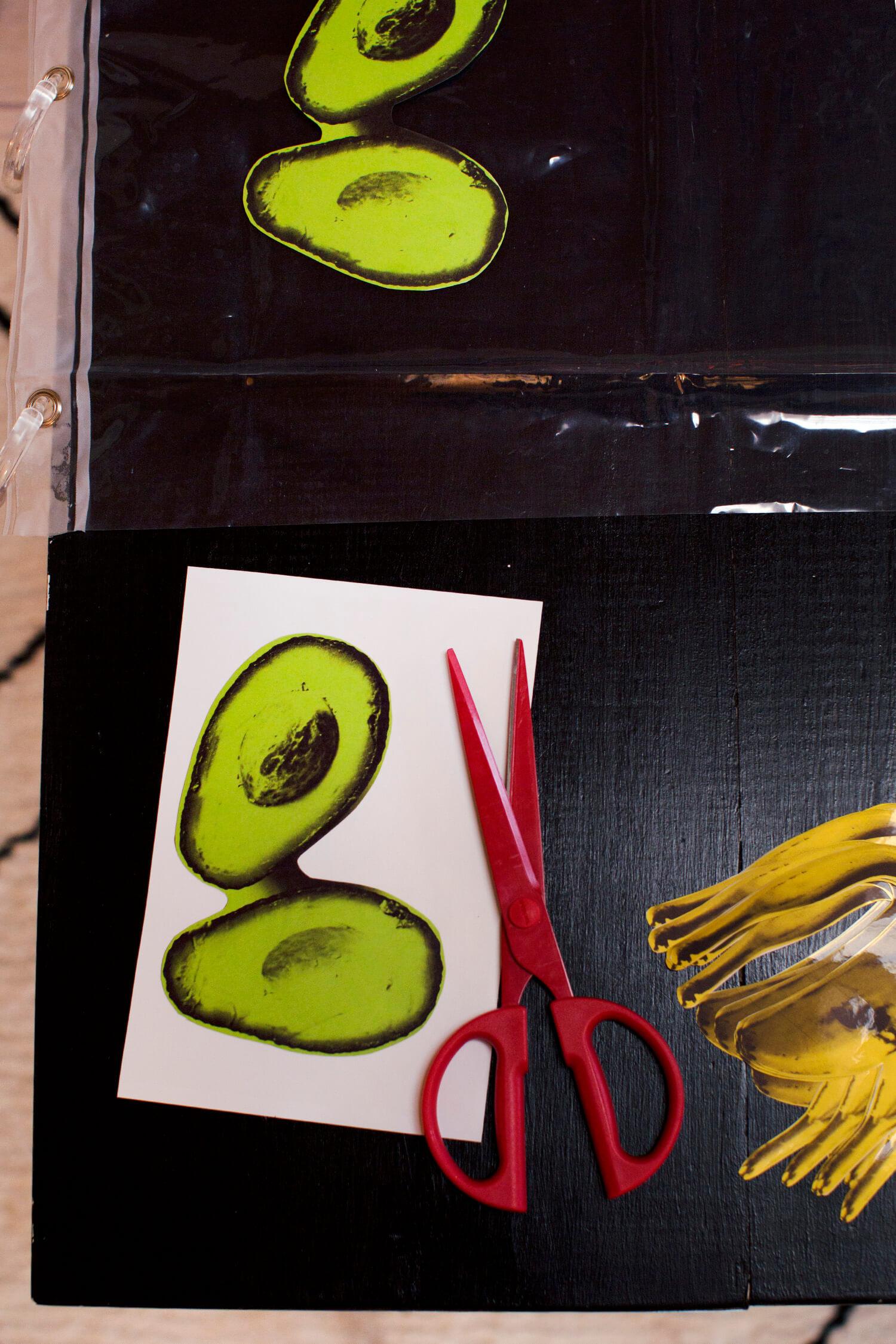 Cut out vinyl shapes