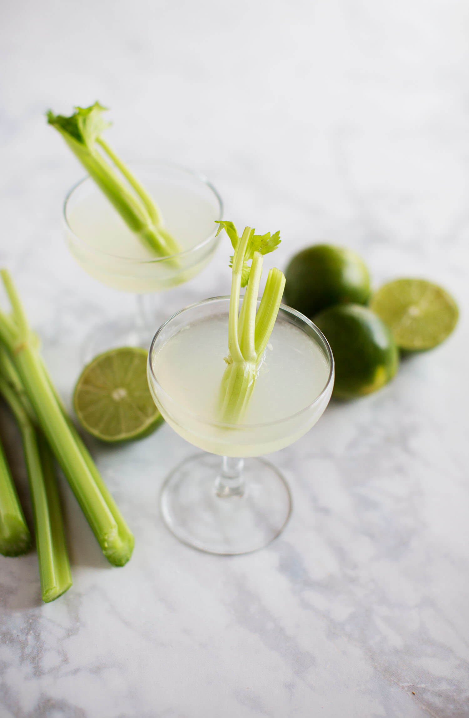 Celery and Lime Gimlet (via abeautifulmess.com)