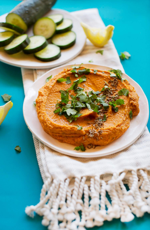 Indian Spiced Hummus (via abeautifulmess.com)