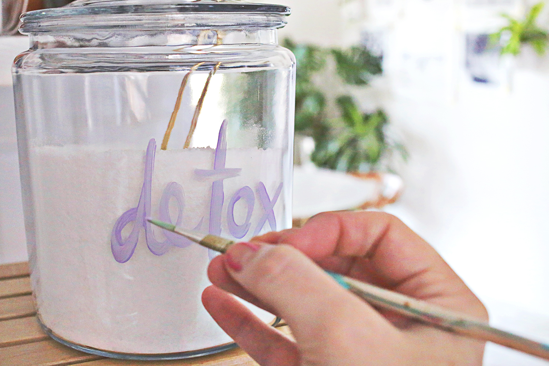 Epsom Salt Detox Bath Salts (via A Beautiful Mess)