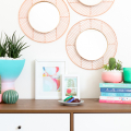 DIY Easy Geometric Copper and Wood Mirrors  - March 09, 2017