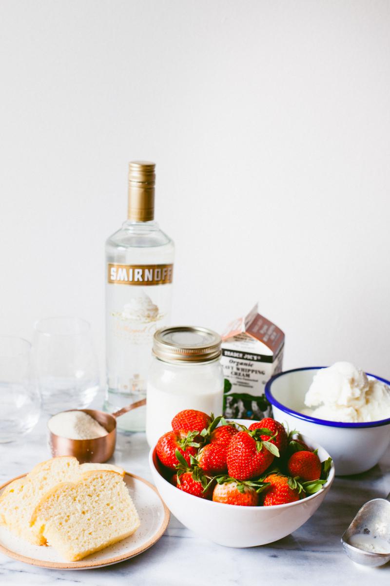 Strawberry Shortcake Shake with Vodka (click through for tutorial)