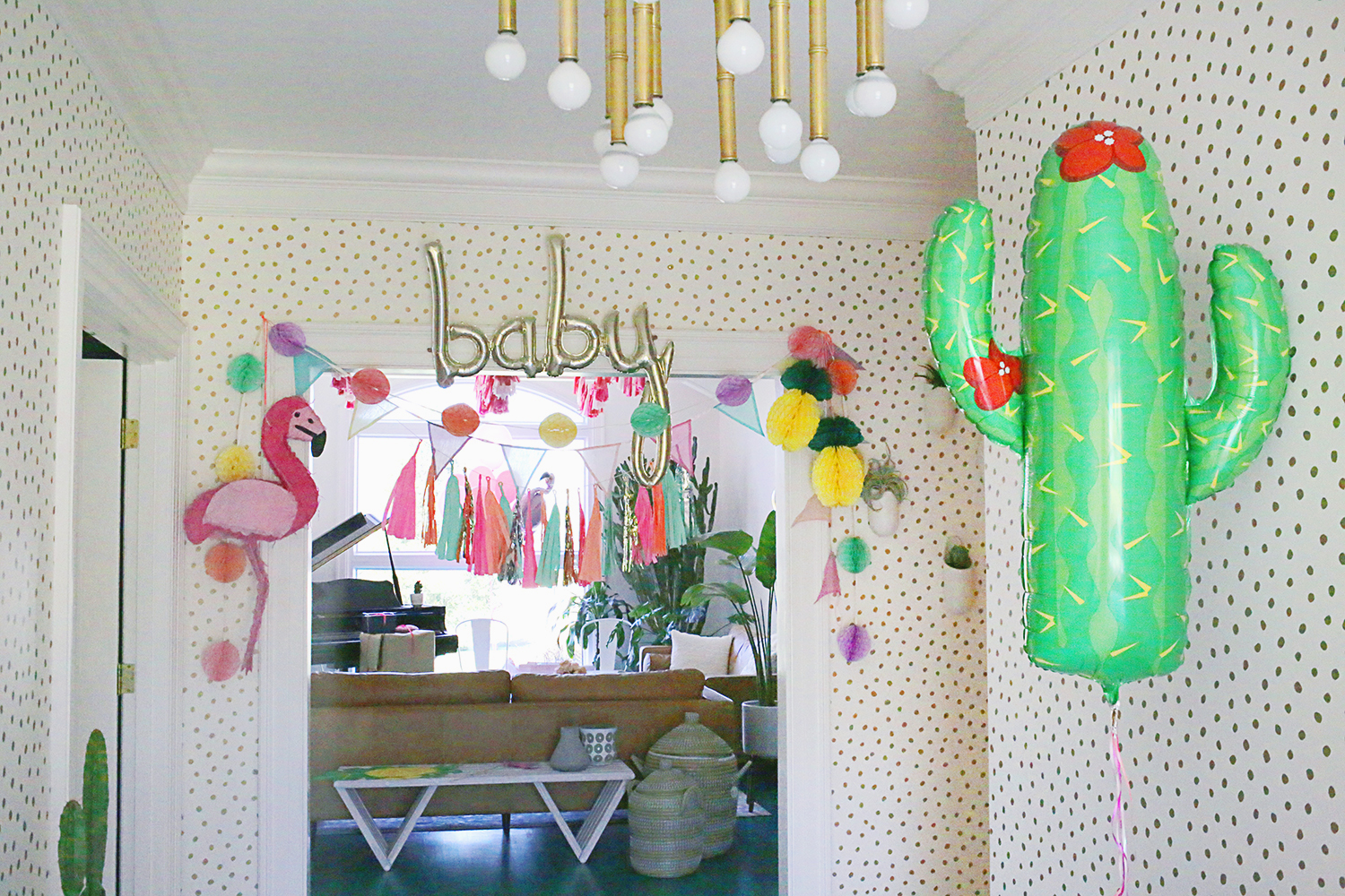 Palm Springs Theme Baby Shower via A Beautiful Mess