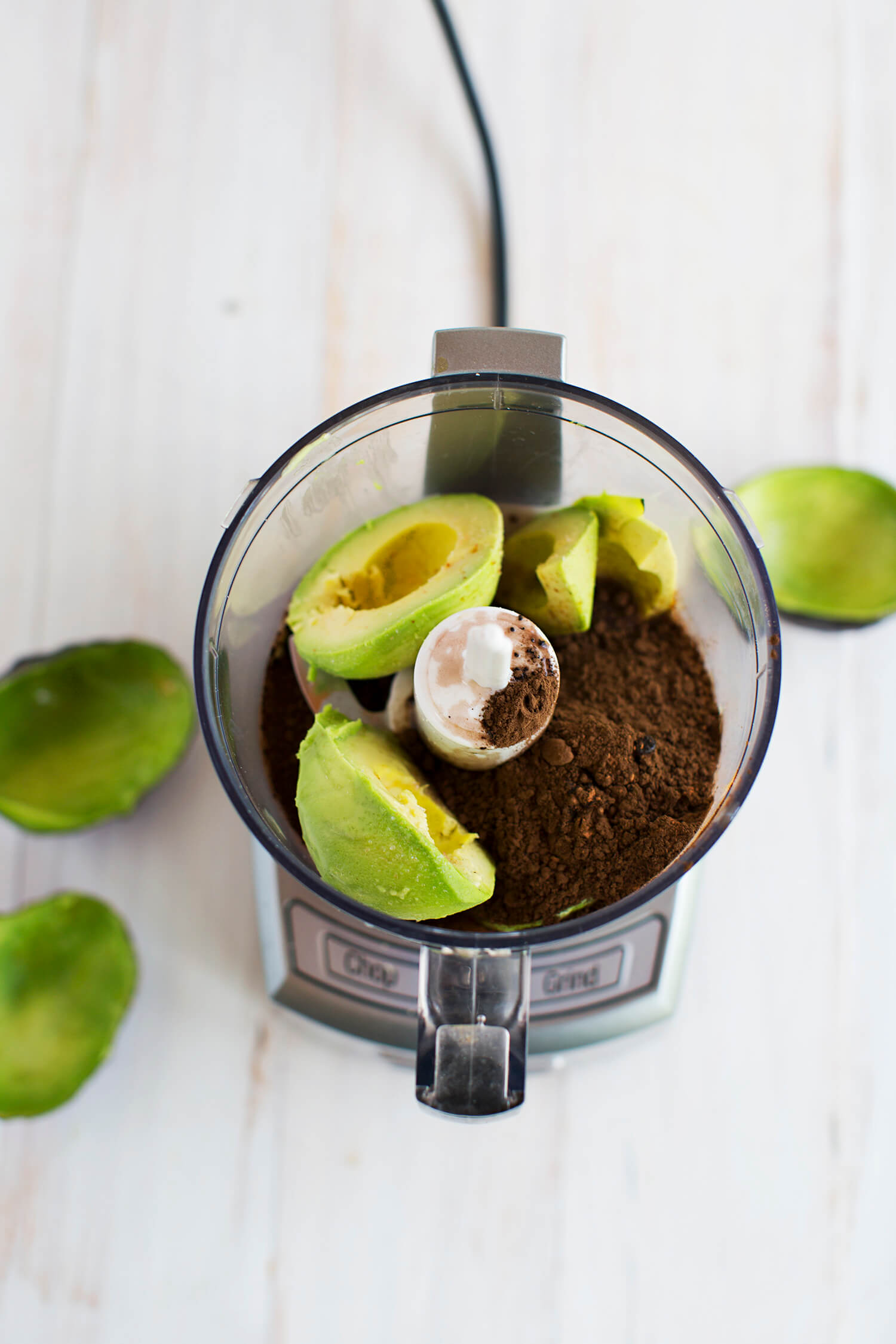 Chocolate avocado dip