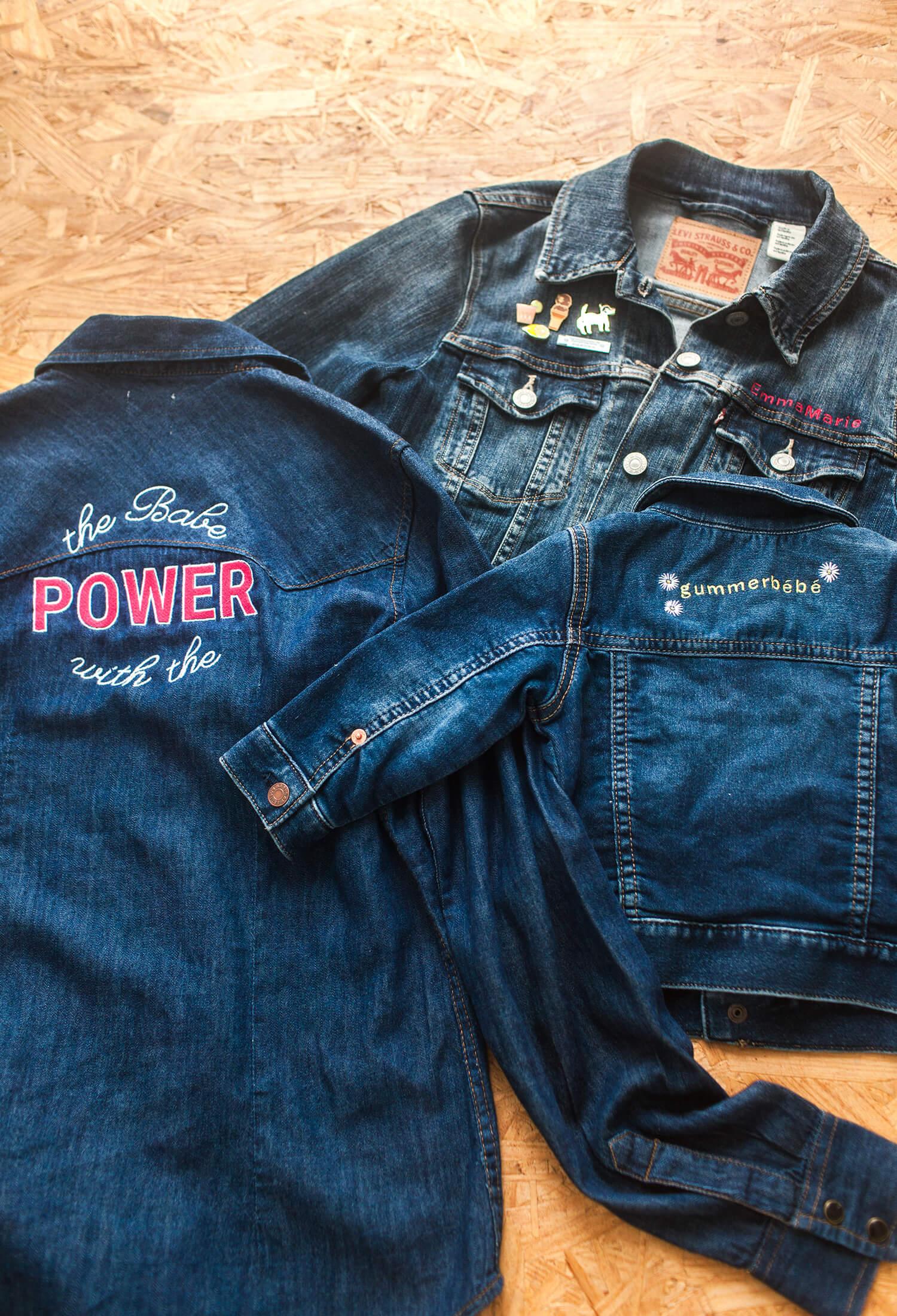 Diy Embroidered Denim Jacket (via Abeautifulmess)