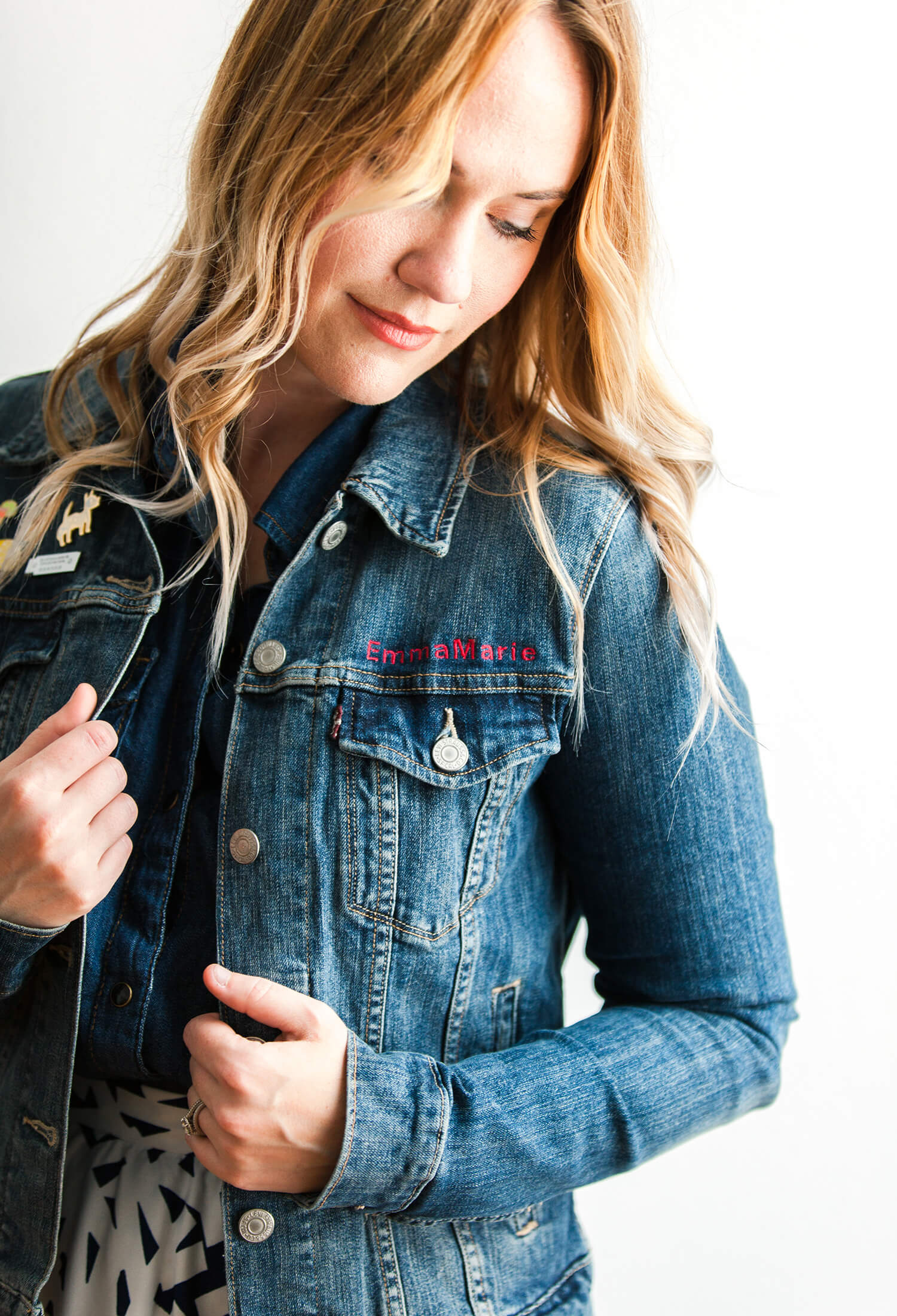 DIY personalized embroidered denim jacket (via abeautifulmess.com)