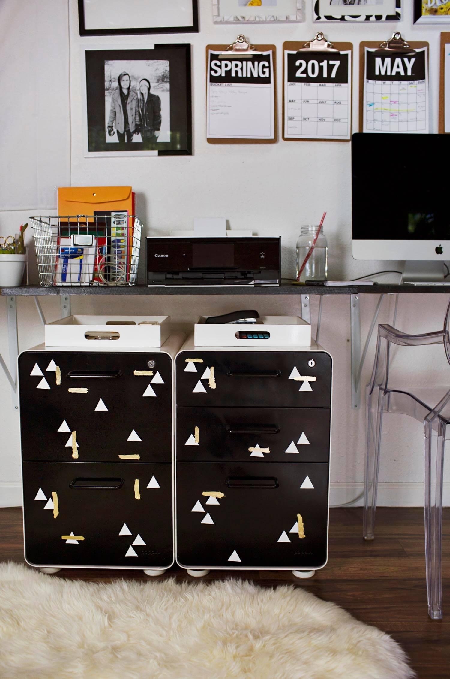 File Cabinet Makeover (via abeautifulmess.com)
