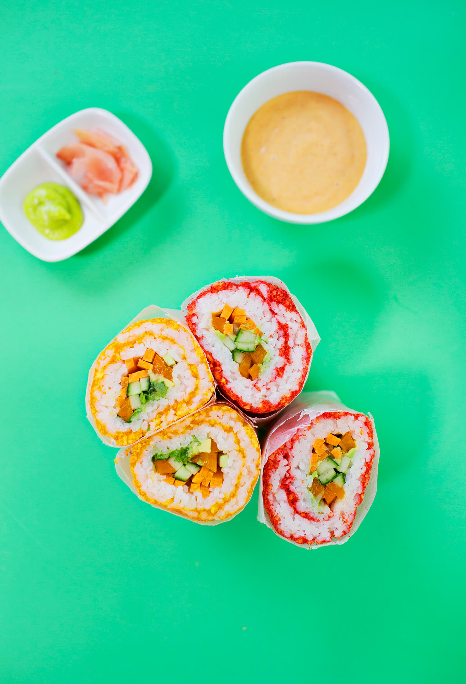 Easy sushi burrito method