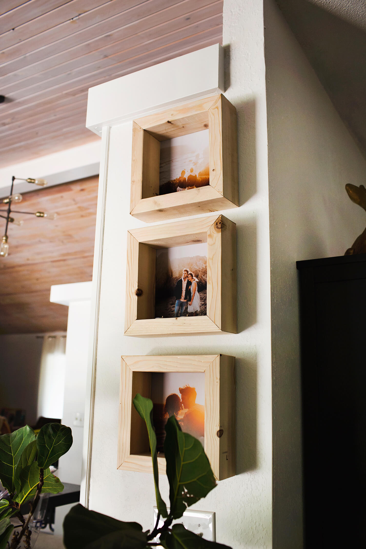 DIY Tea Light Photo Frame