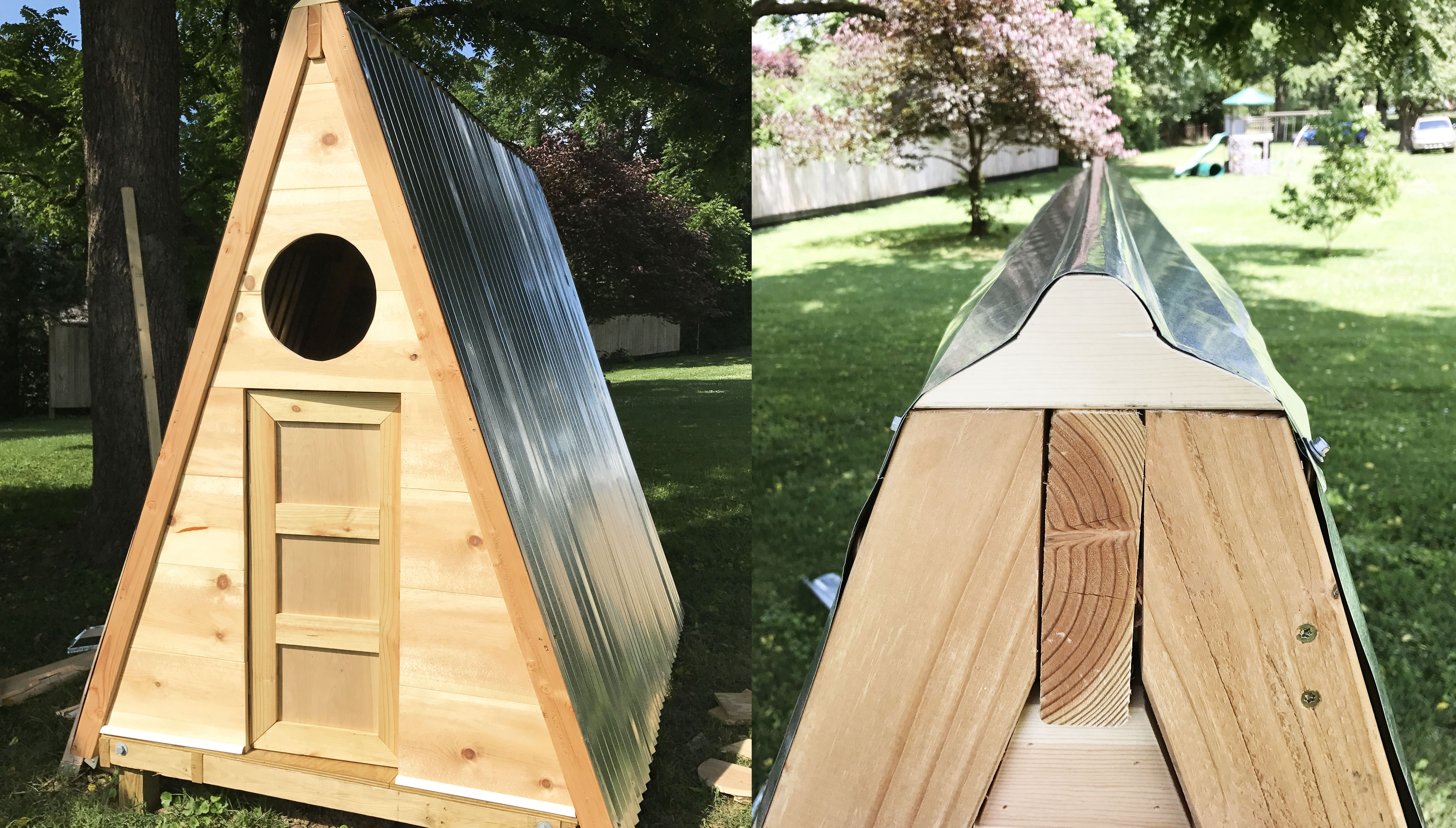 A-Frame Playhouse DIY (click through for toturial!) copy