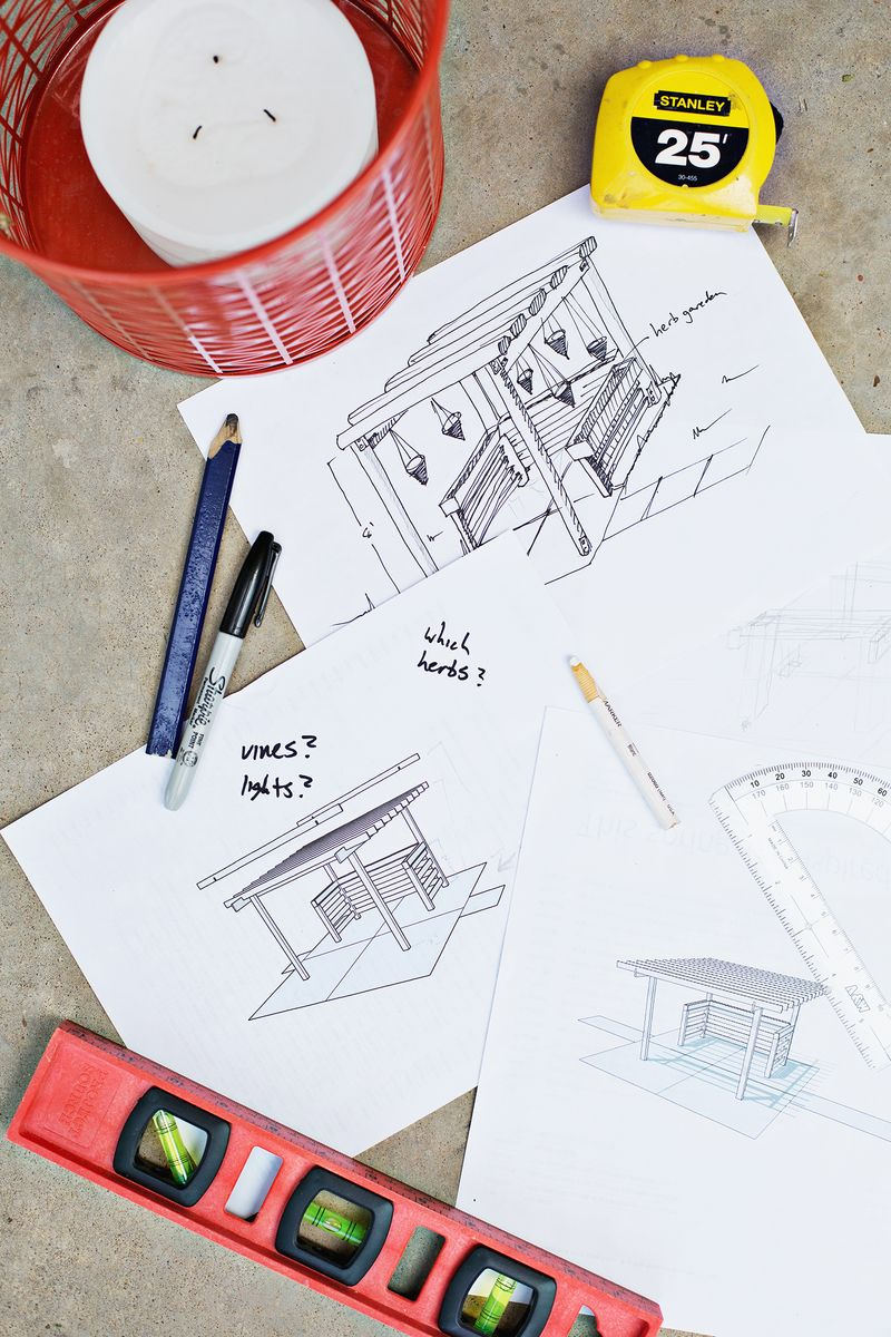 Build a pergola - planning stage