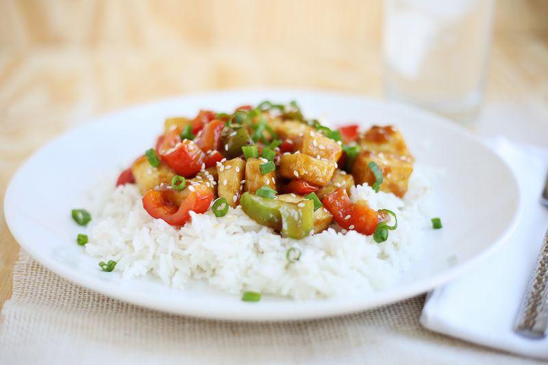 Honey + miso stir fry (click through for recipe)