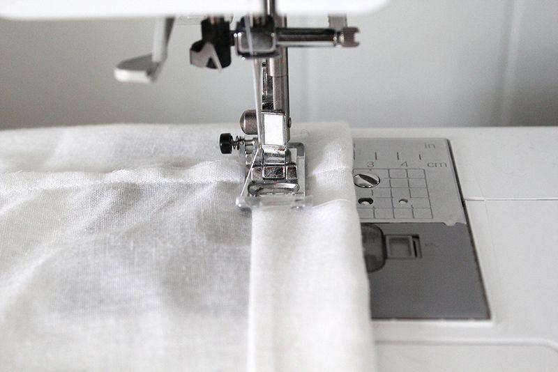 Sew the hem