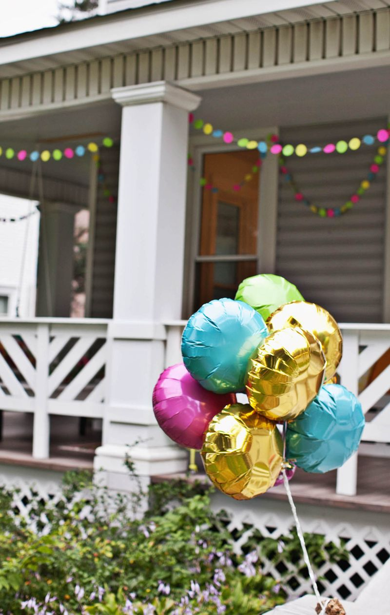 Balloons are always a good idea ...