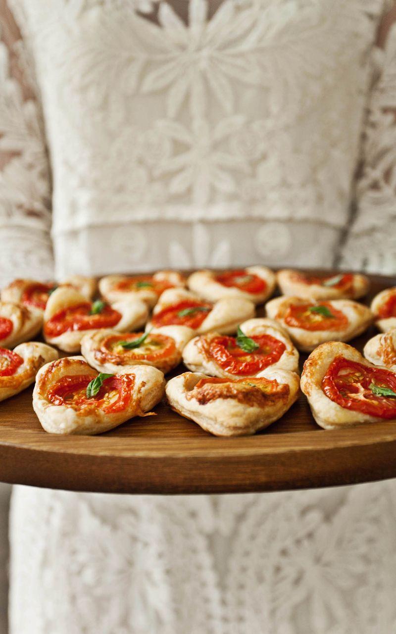 Easy tomato basil tarts