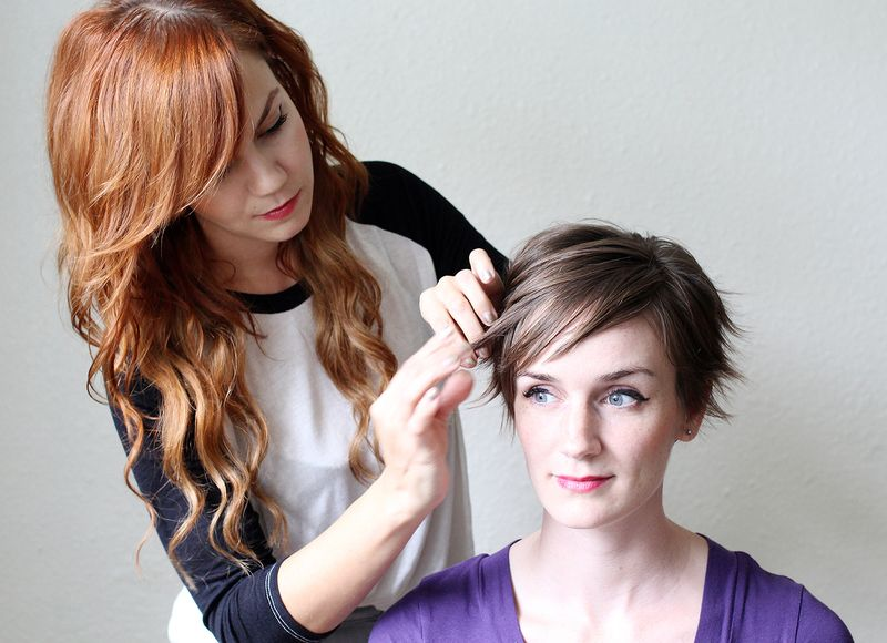 Use hair wax to get a tousled look